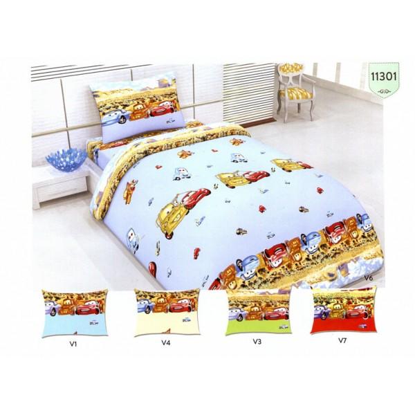 Спален Комплект Детско спално бельо Коли 100% Памук