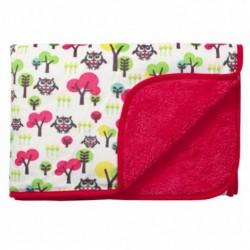 Двулицево бебешко одеяло Бухалчета и Животинчета