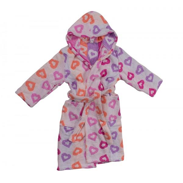 Детски хавлиен халат Сърчица