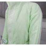 Детски хавлиен халат Точици зелено