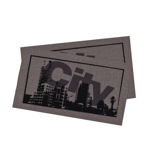 Комплект от 2 бр. подложки за хранене с минимат печат 28/50 - град