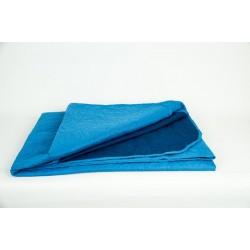 Двулицево шалте 100% Микрофибър Синьо и Тъмно Синьо