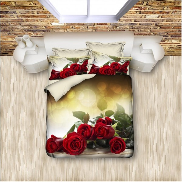 3D Спален комплект RED ROSES