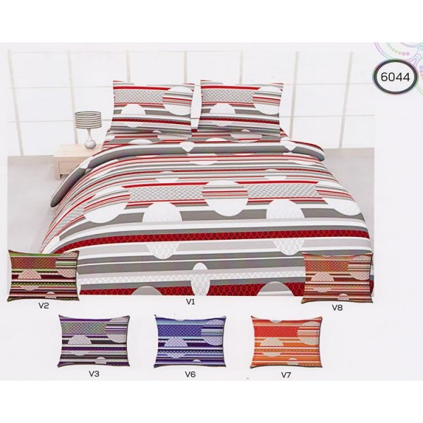 Памучно спално бельо - декор кръгове