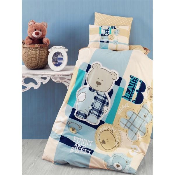 Ранфорс бебешко спално бельо SWEET BEAR