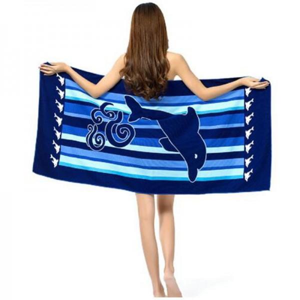 Кърпа за плаж с декор делфини