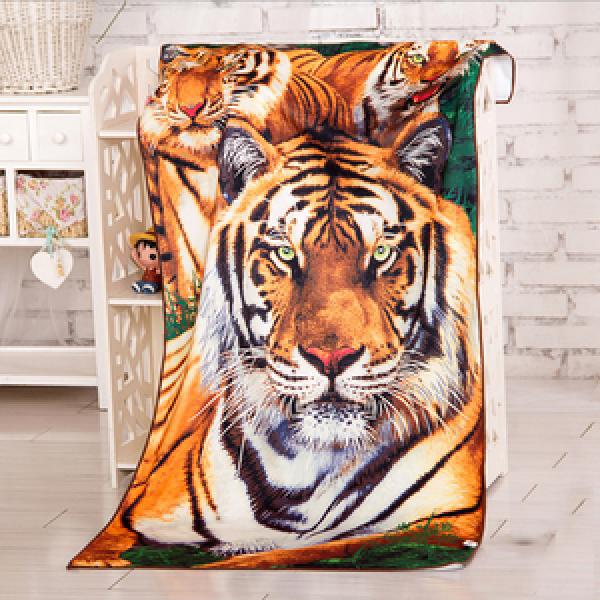Екзотична кърпа за плаж с тигър