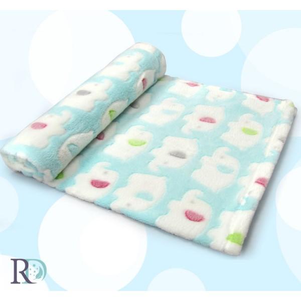 Бебешко одеяло СЛОНЧЕ в синьо