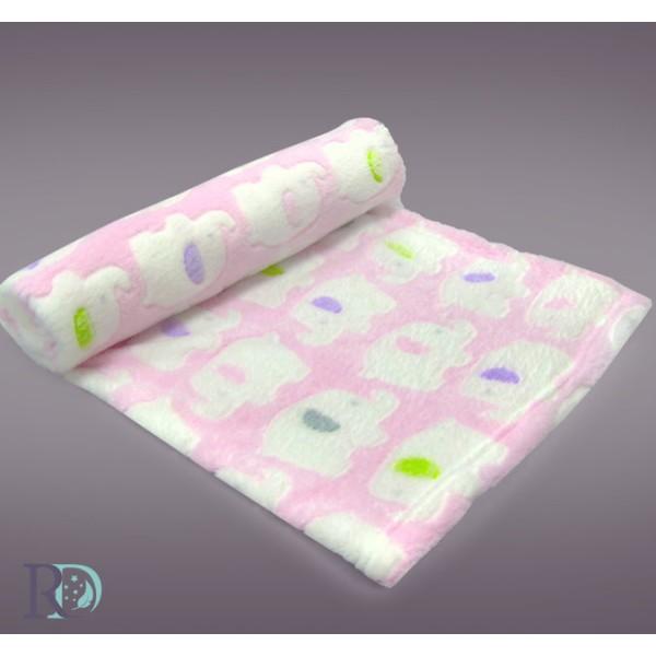 Бебешко одеяло СЛОНЧЕ в розово